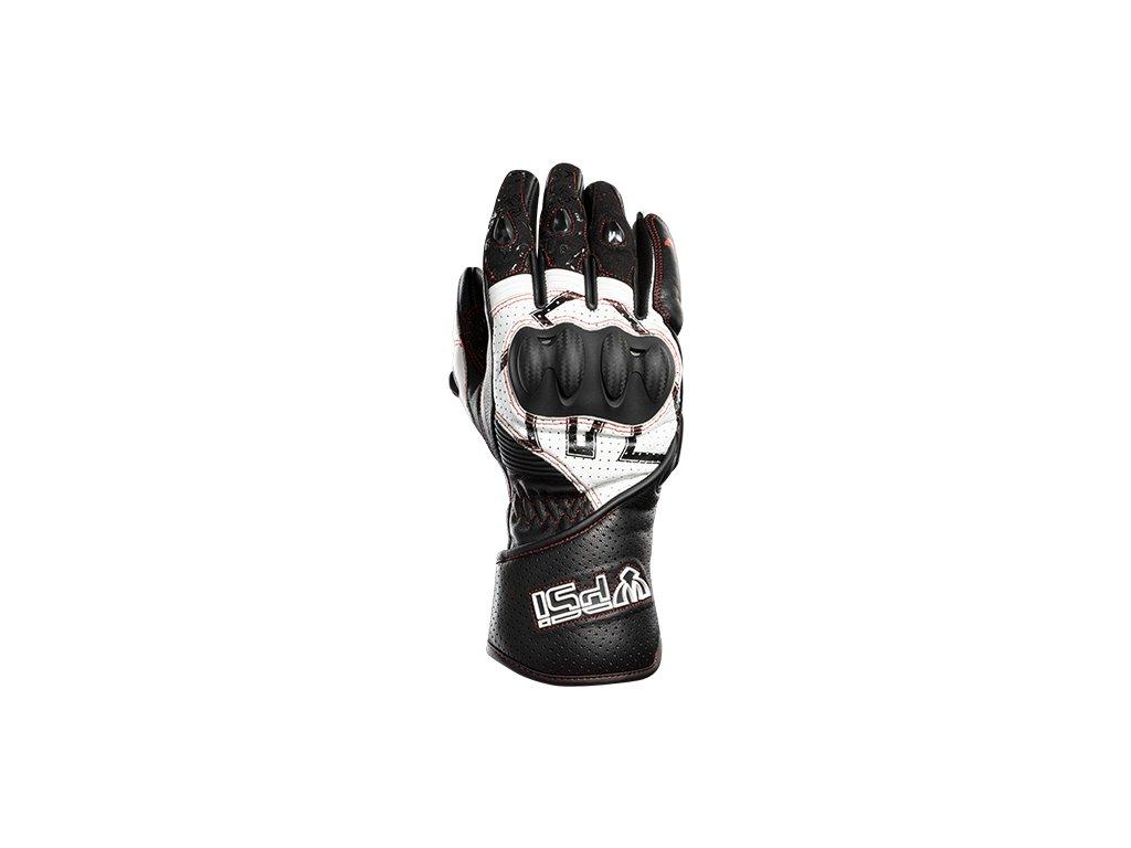 Kožené rukavice PSí TERAMO LADY černá/bílá/červená