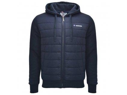 Bunda s kapucí modrá