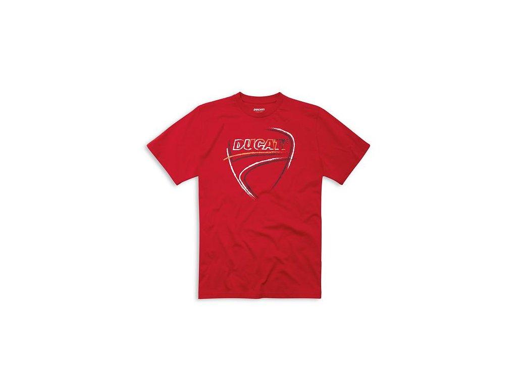 Tričko Ducati Heart Beat červené