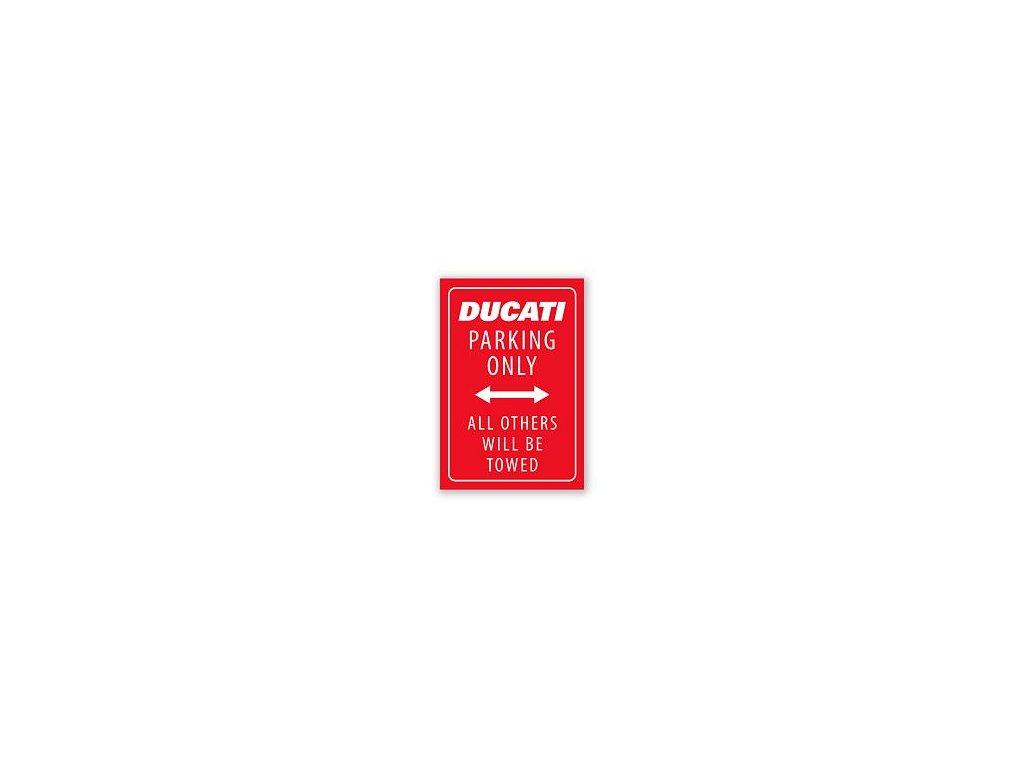 Magnet Ducati Parking červený
