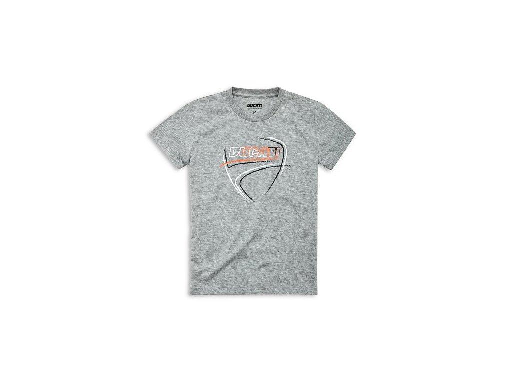 Tričko Ducati Heart Beat šedé