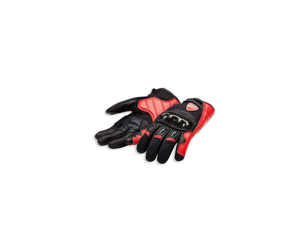 Rukavice Ducati Company C1 černo-červené
