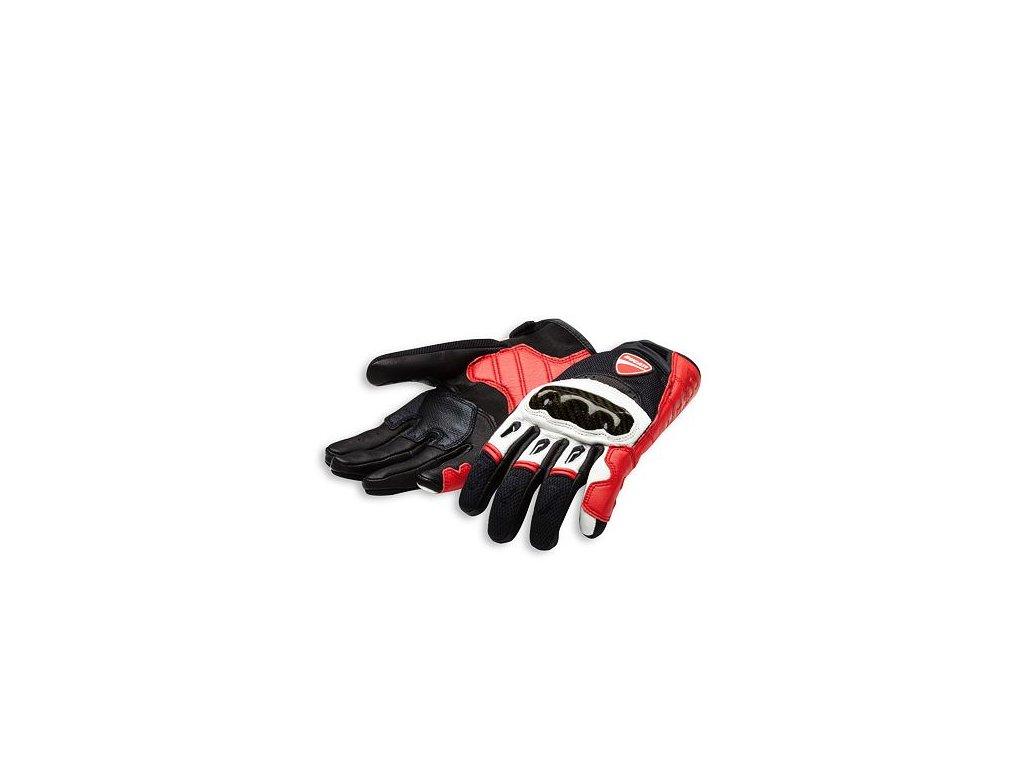 Rukavice Ducati Company C1 červená-bílá-černá