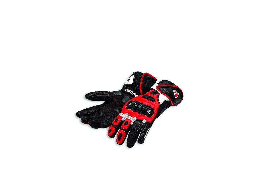 Rukavice Ducati Speed Air C1 červená-bílá-černá