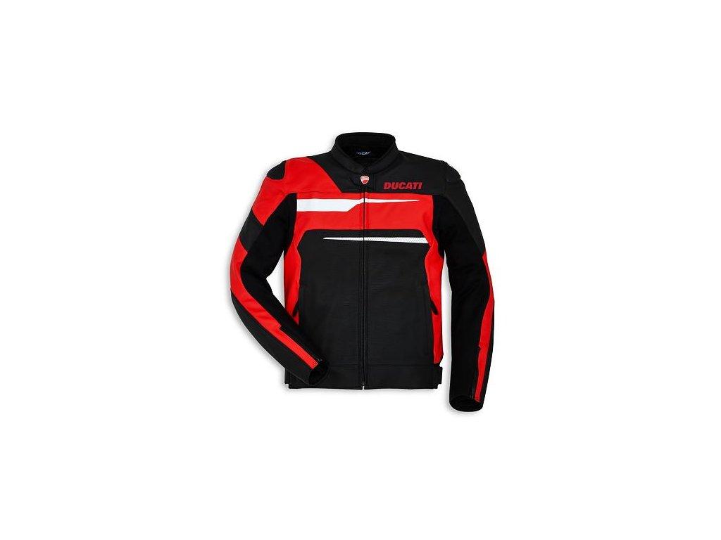 Kožená bunda Ducati Speed Evo C1 černo-červená