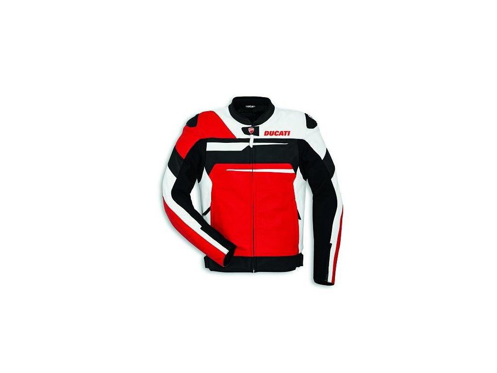 Kožená bunda Ducati Speed Evo C1 červená-bílá-černá