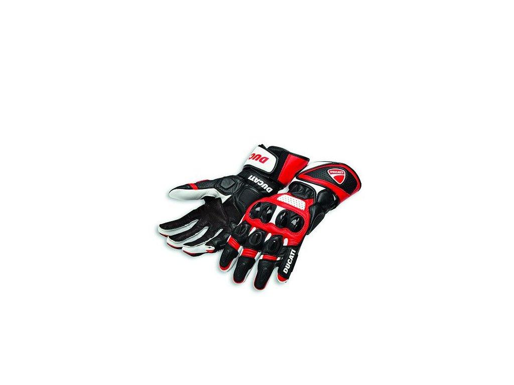 Rukavice Ducati Speed Evo C1 červená-bílá-černá