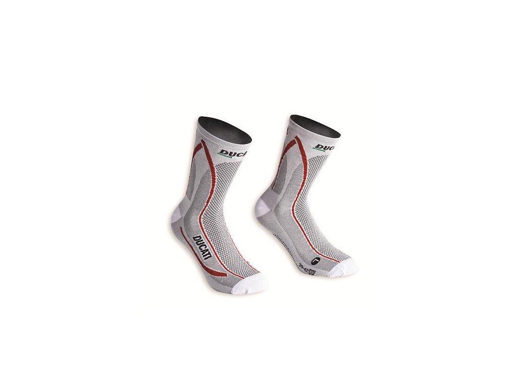 Ponožky Ducati Cool Down bílé