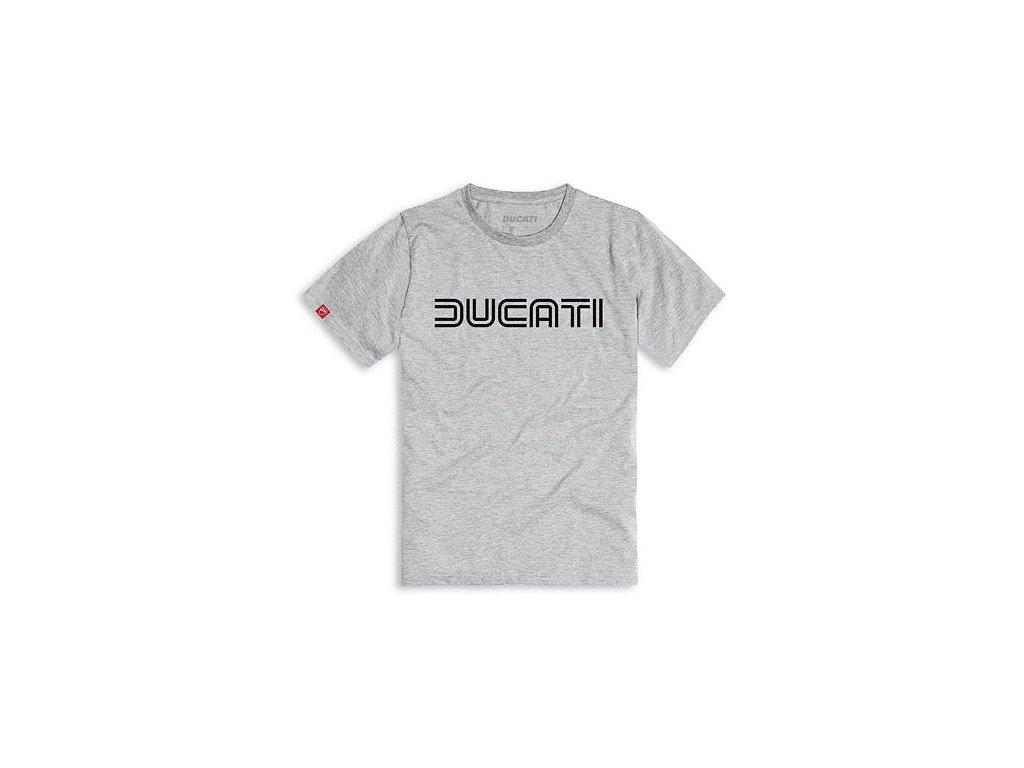 Tričko Ducatiana 80s šedé