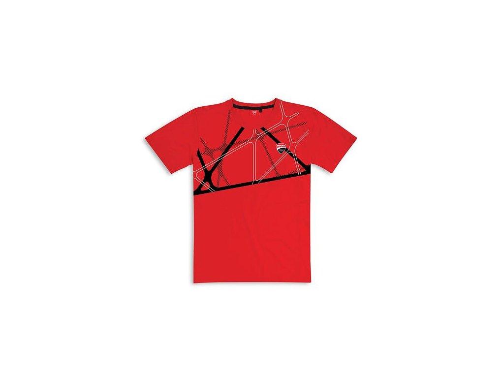 Tričko Ducati Graphic Net červené
