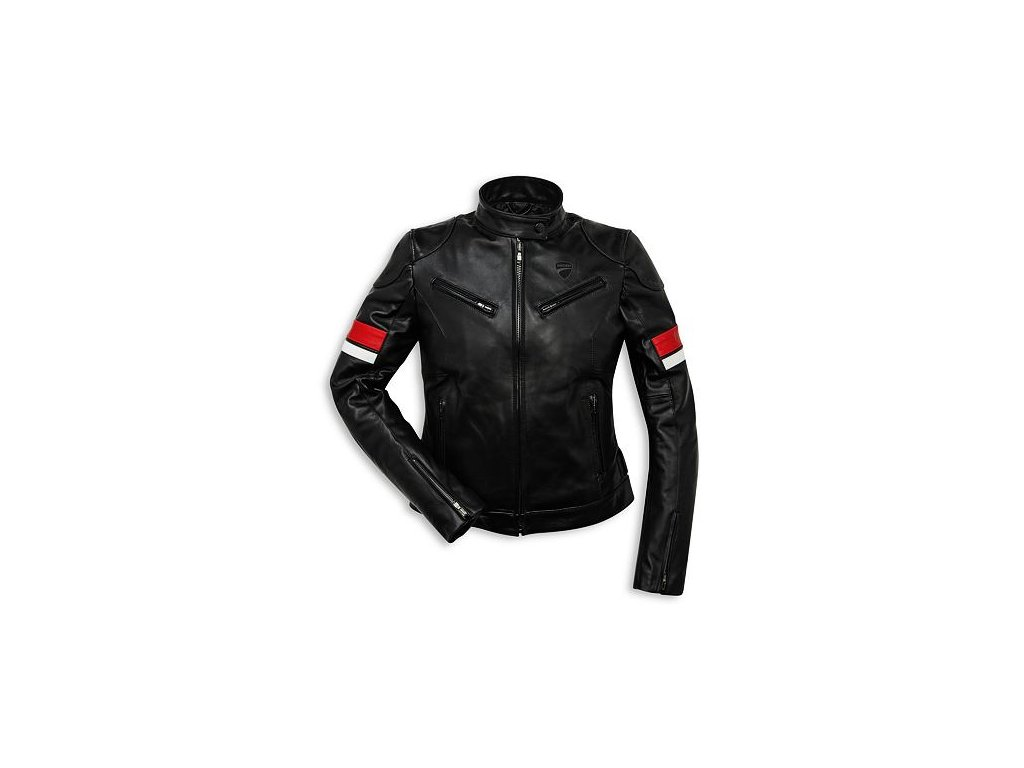 Dámská kožená bunda Ducati Urban Stripes