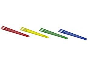 Vidlička na hranolky barevná mix 7,5cm
