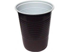 Kávový kelímek hnědo-bílý 0,18 l PP 15ks