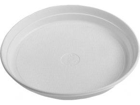 Talíř bílý PP, Ø 22 cm
