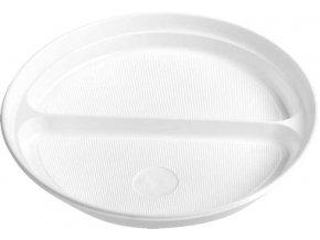 Talíř dělený na 2 porce, bílý PS, Ø 22 cm