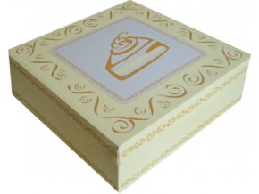 Krabice na dort - celoplošný potisk - 28 x 28 x 10 cm