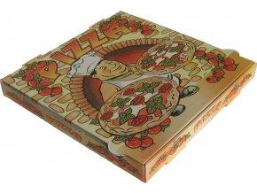Krabice na pizzu - celoplošný potisk 33x33x3,5 cm