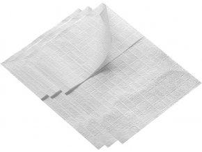 Ubrousky do zásobníku 17 x 17 cm, bílé, 2000 ks