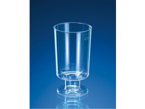 Kelímek krystal na stopce 0,1 l, 15 ks