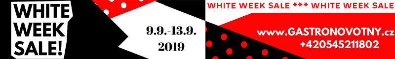 AKCE LETÁK White week sale - Akce platí pouze do vyprodání zásob nebo do 13. 9. 2019
