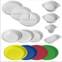 Plastové talíře a misky