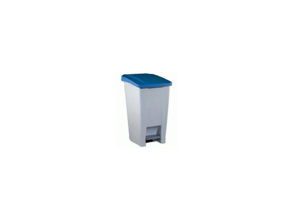 Odpadkový koš nášlapný,kolečka 60L  1423300