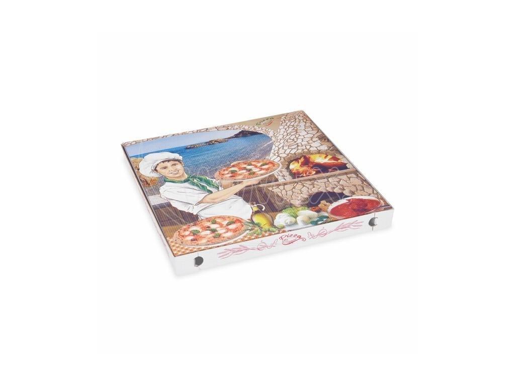 Krabice na pizzu 40x40x3,5 potisk 100ks  0171940