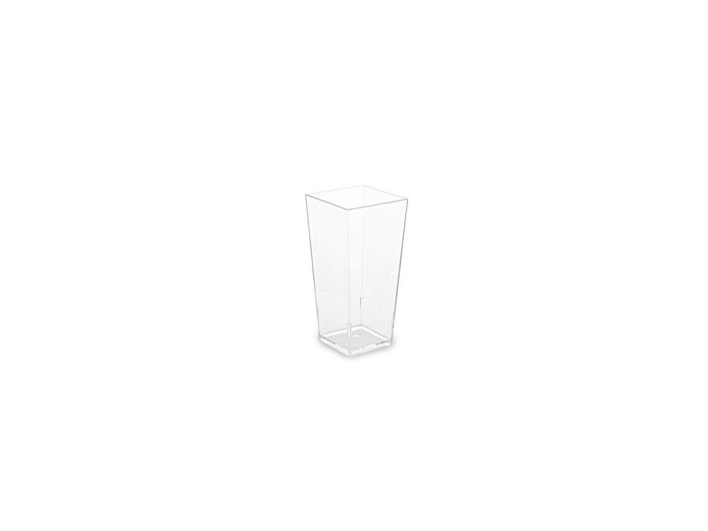 Fingerfood kelímek hranatý čirý 40 ks   0166371