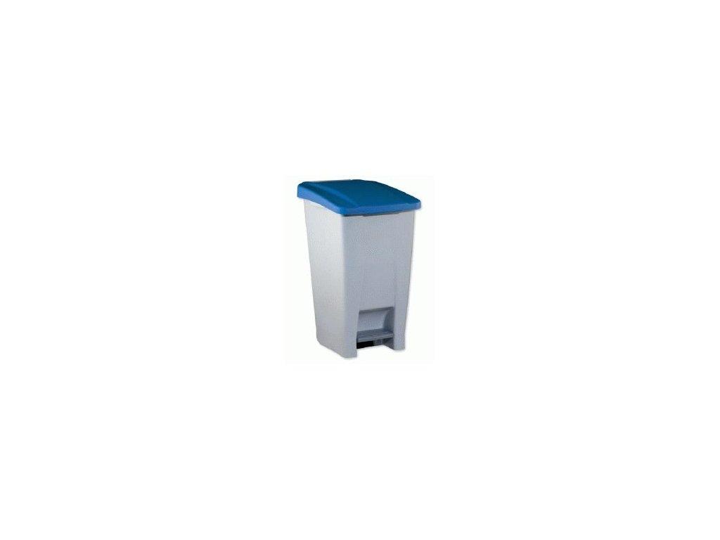 Odpadkový koš s kolečky nášlapný 80l  1424410