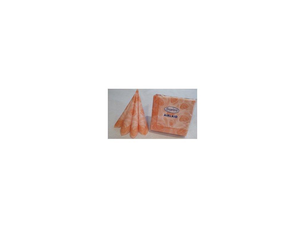 Ubrousky AIRLAID 40x40 dek.H aprikot/50k  V0183904