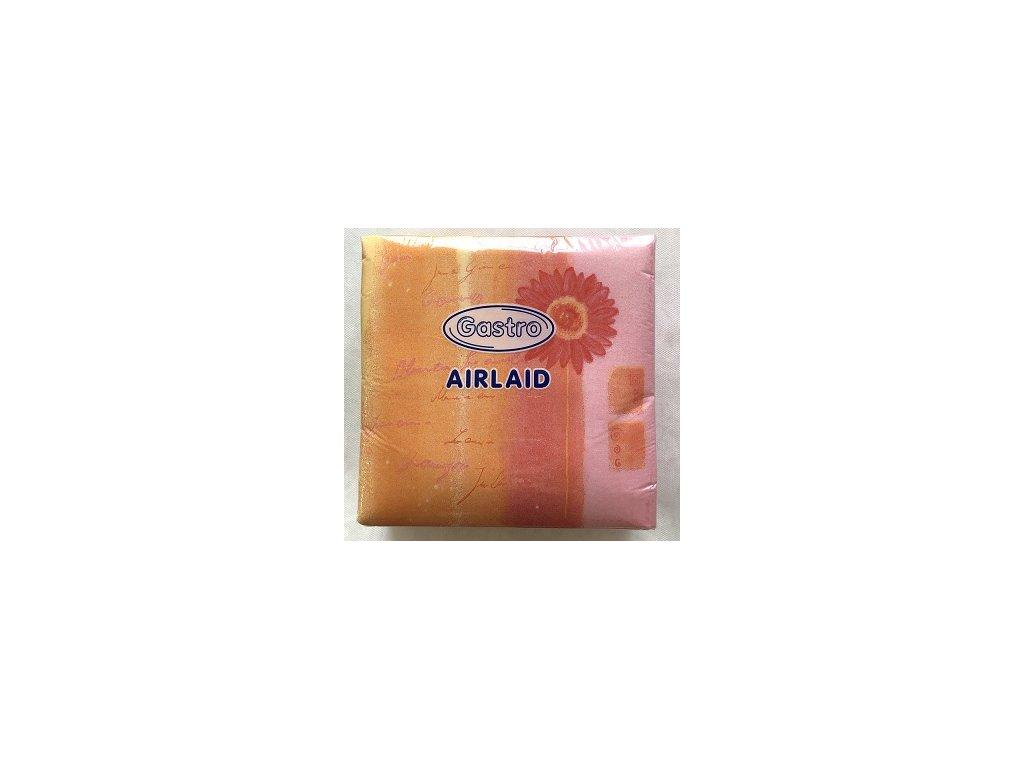 Ubrousky AIRLAID 40x40 dek.F růžové /50k  V0183902