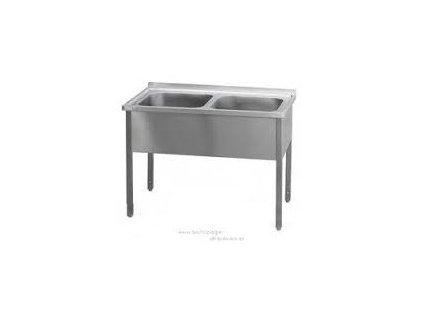 Stůl mycí dvoudřez 120x70x90  20-MSD120