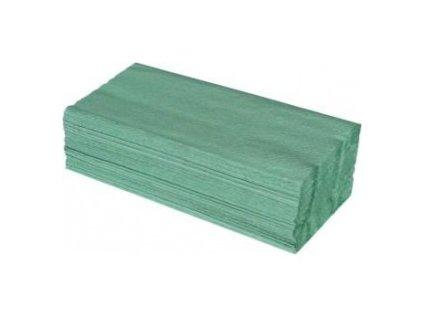 Ručníky pap.ZZ,25x23cm zelené  0160006