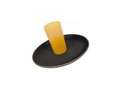 Podnos kulatý černý protiskluz. 38cm  25367601