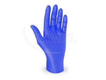 Rukavice nitrilové modré nepudr. L 100ks  0168142
