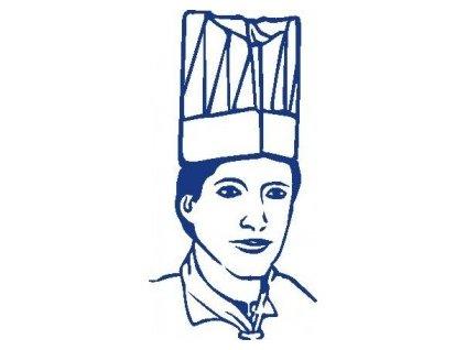 Kuchařské čepice vysoké bílé 24cm  0168224