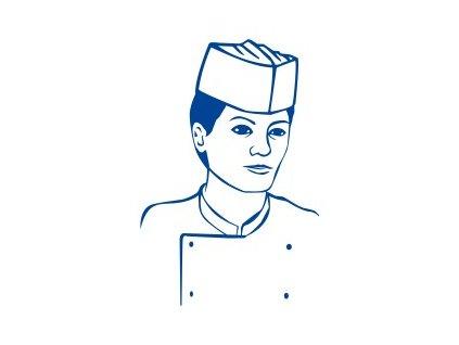 Kuchařské čepice papír,lodičky bílé 25ks  0168211