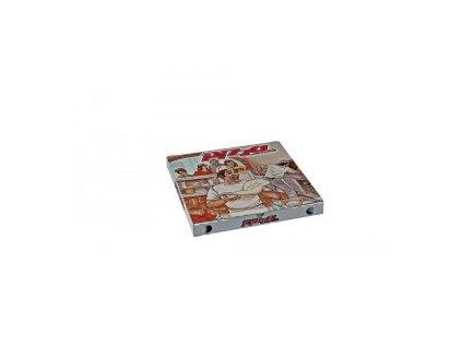 Krabice pizza vl.lepenka 30x30x3 100ks  0171930