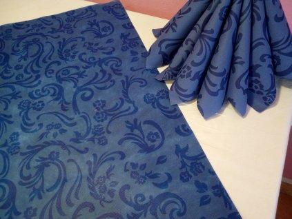 Napron netk.textile 80x80 A modrý/50ks  V0178518