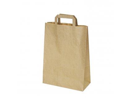 Papírové tašky 26+12x36 cm hnědé 50 ks