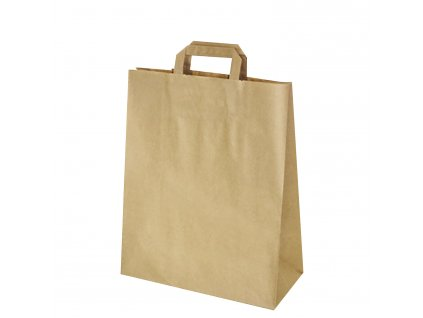 Papírová taška 32+16 x 39 cm hnědá [250 ks]
