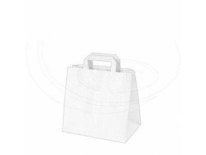 Papírová taška 26+17 x 25 cm 250 ks bílá