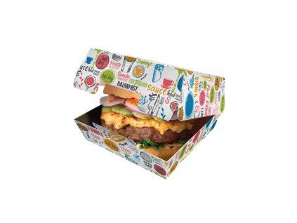 box na hamburger