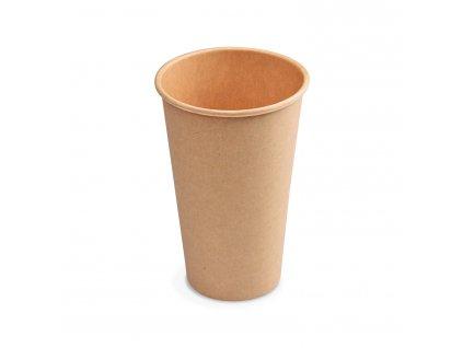 Papírový kelímek hnědý 510 ml, XL (Ø 90 mm) [50 ks]