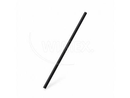 BIO Slámka papírová JUMBO černá 25cm 100ks