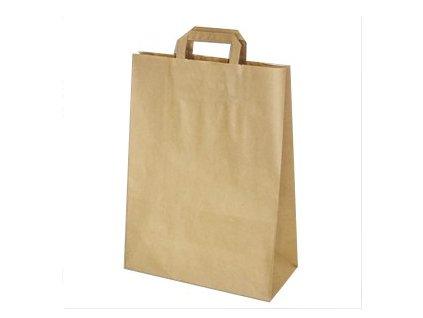 Papírové tašky 32x15x43 hnědé 50ks  0170843