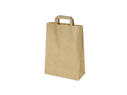 Papírové tašky 22x10x28cm hnědé 50ks  0170828