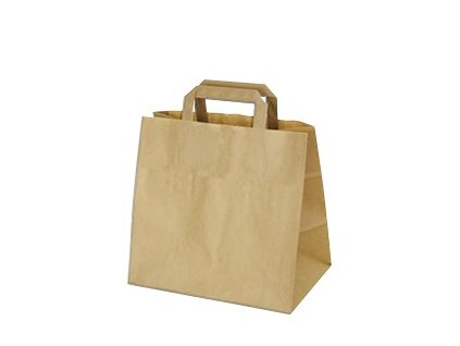 Papírové tašky 32x21x27 cm hnědé [50 ks]  0170827