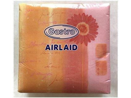 Ubrousky AIRLAID 40x40 50ks růžovožluté  V0183902