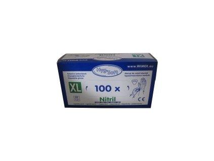 Rukavice Nitrilové bílé  XL/100kusů  0168153